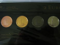"Germany -  4 x 2 Euro – 2008 ""Precious Metal"" (4 different coins in set) 'Hamburg'"