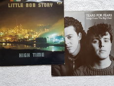 Lot of 14 vinyl LP's New Wave & related styles with a.o. Tears for Fears,  Little Bob Story, Communards Joe Jackson & Spandau Ballet