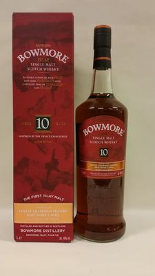"Bowmore 10 years old ""Inspired by the Devil's Casks Series"" - Limited Edition - Liter - Travel Retail"