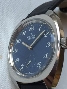 Edox-Delfin-Men's-1970-Swiss Made-Rear