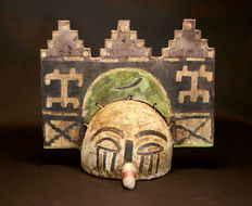 Very rare American Native tribal ZUNI HOPI Kachina Mask.USA.