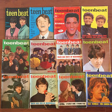 Teenbeat popmagazines - lot with 20 rare unbound editions - 1965 / 1966!