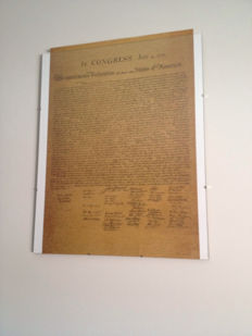 USA Declaration of Independence - reproduction
