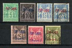Port-Lagos 1893 – complete series – Yvert n° 1 to 6.