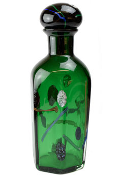 Stefano Toso (Murano)-Bottle with Murrine