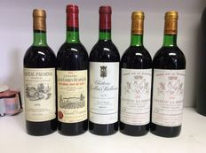 1975 Chateau Padarnac, Pauillac, 1976 Chateau Grand Corbin-Despagne, Saint-Emilion Grand Cru, 1978 Chateau Gallais Bellevue, Medoc, 1979 Chateau La Bridane Cru Bourgeois, Saint-Julien, France , 5 bottles 0.73l & 0.75l