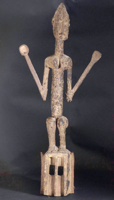African Tribal DOGON SATIMBE Ritual Bulu dance Mask. Mali.