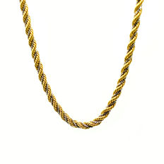 Necklace in 18 kt yellow and white gold