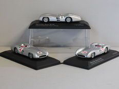 Minichamps - Scale 1/43 - Lot with 3 x Mercedes-Benz W196 1954