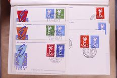 Europa Stamps 1958/1984 - Collection of 476 FDC's in 3 stock books and separate sheets