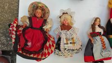 Collection of 10 dolls, 1960s/1970s.