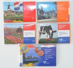 The Netherlands - Mini-coin sets 1998/2002 (5 different)