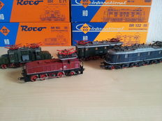Roco H0 - 04129A/4141B/04145S/04196A - 4 Altbau E-Locomotives: BR 160, BR 118, BR E 32 of the DB and BR E 71 of the DRG