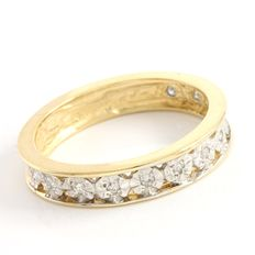 Estate 14kt Yellow Gold Band Set with Diamonds