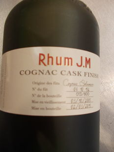 Rhum J.M - Cognac Cask Finish - only 800 bottles. 50cl.