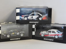 Minichamps - Scale 1/43 - Lot with 3 racing car models: Audi, BMW & Mercedes-Benz