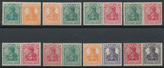 German Empire - Selection of combinations from stamp booklets