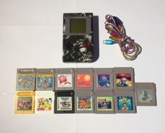 Nintendo game boy Airbrush incl  13 games and link cables