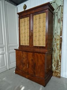 A mahogany print cabinet -the Netherlands - first half of 19th century