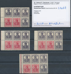 German Empire 1919 - Four sheets from a stamp booklet