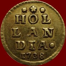 Holland - Wapenstuiver 1738 (Afslag in goud)