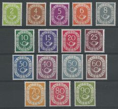 Federal Republic of Germany 1951 – Post horn – Michel 123/138