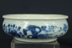 Blue and white censer - China - 18th century