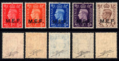 British Occupation – Former Italian Colonies – M.E.F. 1942 (Cairo) complete series.
