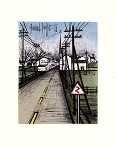 "Bernard Buffet (from) - the village road  ""La route du village"""