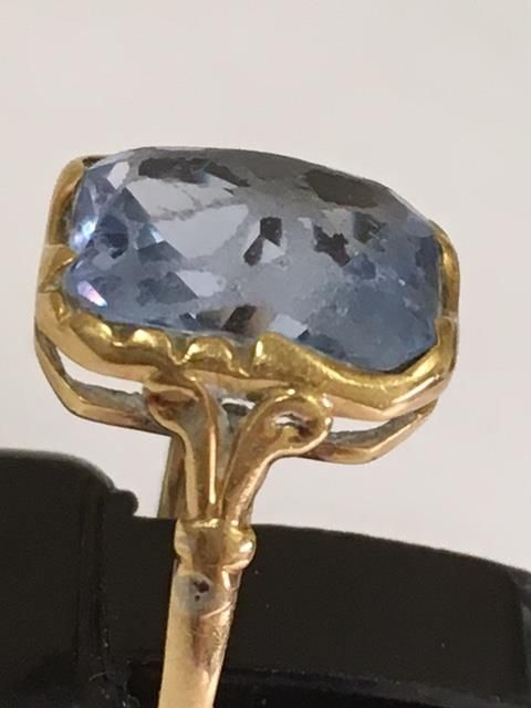 gold ring with facet cut aquamarine catawiki. Black Bedroom Furniture Sets. Home Design Ideas