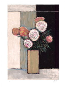Doré - Bunch of flowers in a Brown vase