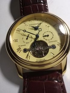 Calvaneo 1583 Evidenze Gold Dualtime automatic - men's watch - 2016, like new