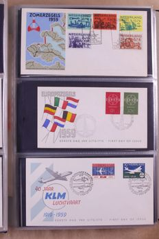 The Netherlands 1958/2002 – Complete collection FDCs in 4 DAVO albums