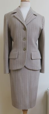 Yves Saint Laurent Pinstripe Tailored Skirt Suit