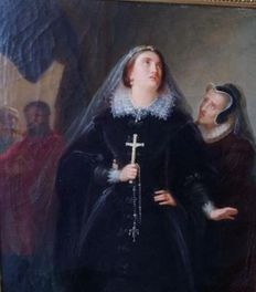 Wilhelm Volkhart (attributed to) - Maria Stuart vor der Hinrichtung (Maria Stuart before the execution)
