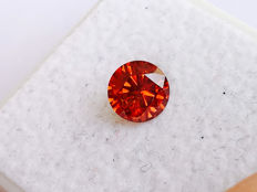 Red Diamond - Brilliant Cut - 0.61 ct - without reserve price