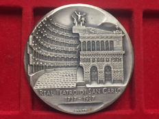 Italy - 'Founding of the Royal Theatre of San Carlo' Medal - Silver