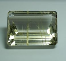 Rutilated  Quartz, colorless, 134,10 ct