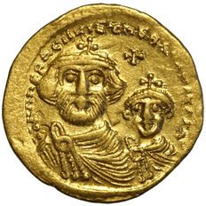 Byzantine - Heraclius (610-641 A.D.) and Heraclius Constantine (613-641 A.D.). AV Solidus – Constantinople