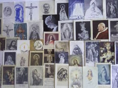 Batch of 150 holy cards various vintage