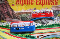 "Technofix, Western Germany - Length 80 cm - Tin ""Alpine Express"" GE-300 with a clockwork motor, Period: 1960's"