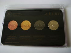 "Portugal -  4 x 2 Euro – 2014 ""Precious Metal"" (4 different coins in set) 'Carnation Revolution'"