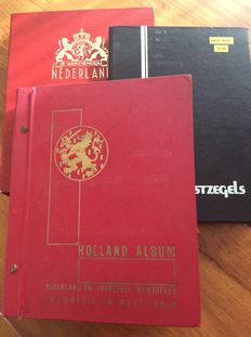 Indonesia, Netherlands and Antilles - Collection in three albums/books
