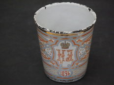 """Enamelled Russian """"Cup of Sorrow"""" with Tasarist weapon  - anno 1896"""