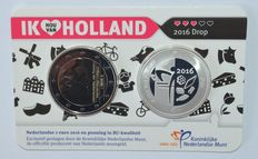 "The Netherlands – 2 Euro 2016 ""I love Holland – Liquorice"" including a silver medal, in coin card"