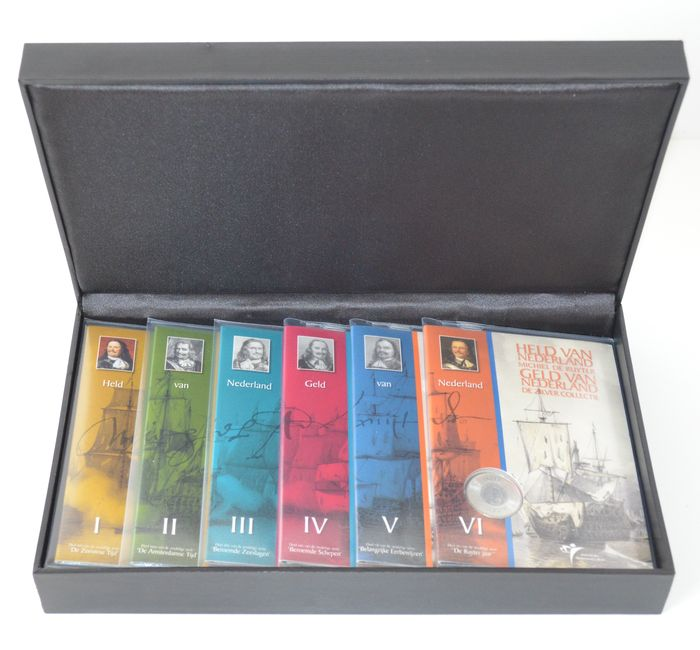 "The Netherlands – Year packs 2007 ""Michiel de Ruyter Silver Collection"" part I through VI (in Dutch)"