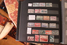 France 1930-1990 – Stamps collection, among them air post stamps. Important face value.