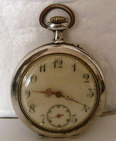Silver remontoir - pocket watch - 1900