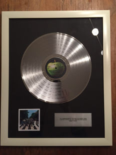 "The Beatles ""Abbey Road"" Platinum plated LP"