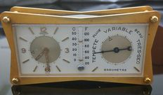 Jaeger - Scientific barometer table clock - From the '50s-'60s